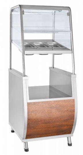 Прилавок для столовых приборов ПСПХ-70Т с хлебницей