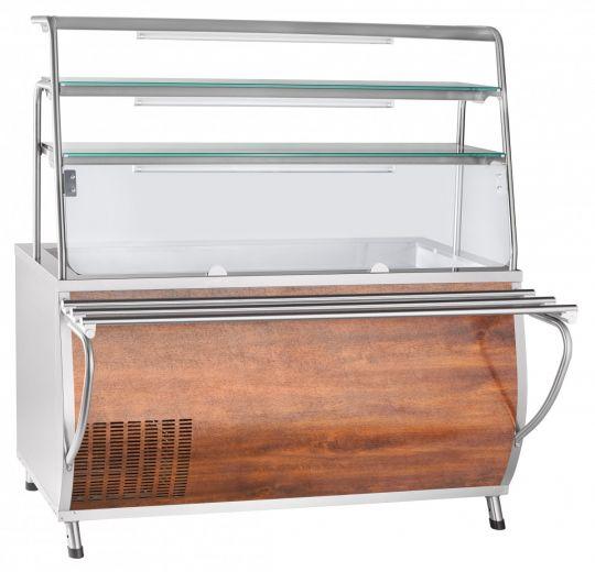 Прилавок-витрина холодильный ПВВ(Н)-70Т-С-НШ с гастроёмкостями